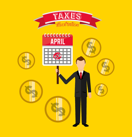 tax time: tax payment design, vector illustration eps10 graphic Illustration