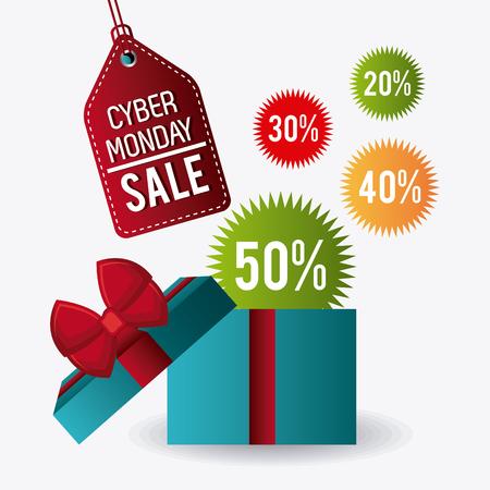 monday: Cyber monday shopping season, vector illustration eps10. Stock Photo