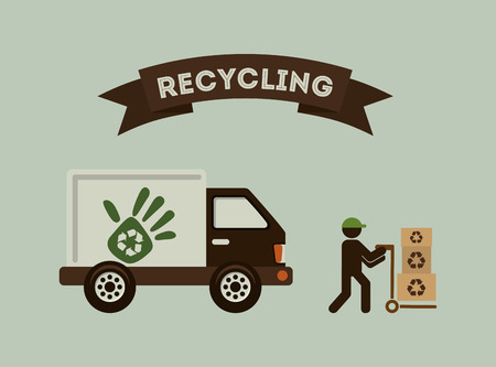 rubbish cart: recycling transport design, vector illustration eps10 graphic