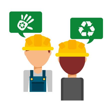 raccolta differenziata: riciclaggio progettazione trasporti, illustrazione grafica vettoriale eps10