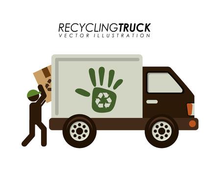recycling transport ontwerp, vector illustratie eps10 afbeelding Stock Illustratie