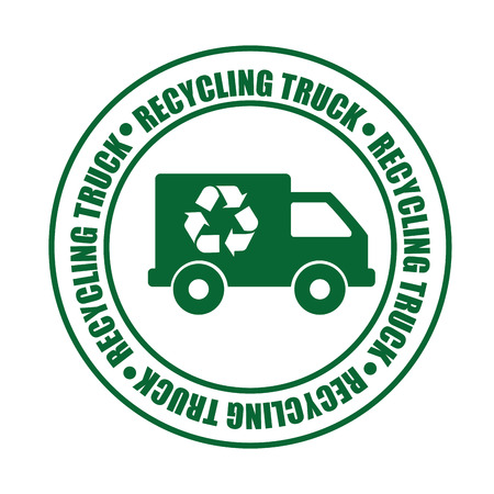 reduce reuse recycle: recycling transport design, vector illustration eps10 graphic