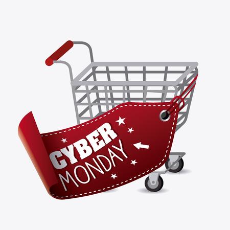 Cyber ??Monday saison des achats, eps10 illustration vectorielle.