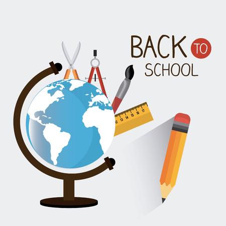 Back to school season design, vector illustration Vektorové ilustrace