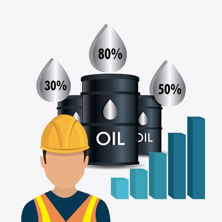 industrial worker: Fuel prices economy design, vector illustration eps10 Illustration