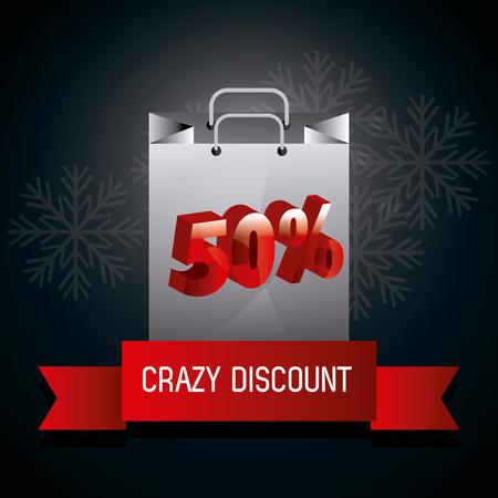 the season: Black friday shopping season design, vector illustration.