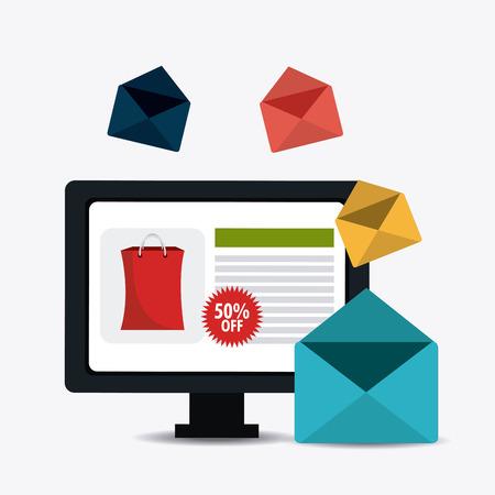computer crash: Shopping and marketing design, vector illustration eps10 graphic