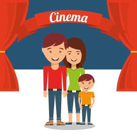 cinematografico: dise�o afici�n cinematogr�fica, ilustraci�n vectorial gr�fico eps10