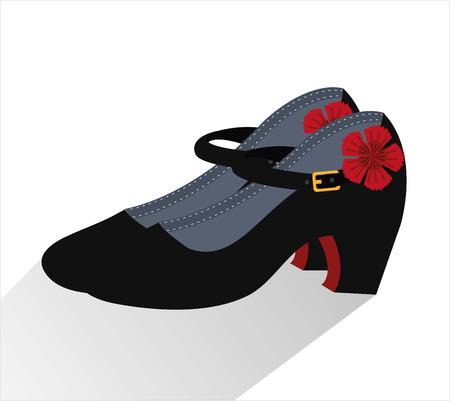 Cultura flamenca iconos de diseño, ilustración vectorial gráfico