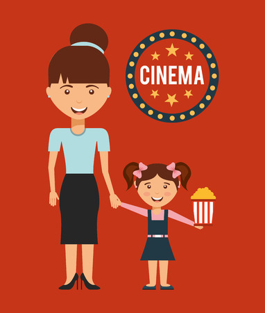 mom and pop: cinematographic hobby design, vector illustration eps10 graphic Illustration