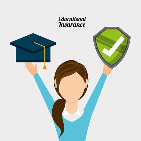 graduated: insurance company design, vector illustration eps10 graphic