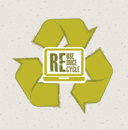 green arrows: recycle concept design, vector illustration eps10 graphic Illustration