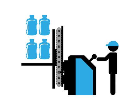 packaging equipment: bottling Company design, vector illustration eps10 graphic Illustration