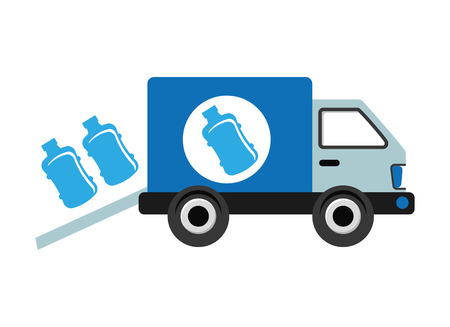 delivery icon: bottling Company design, vector illustration eps10 graphic Illustration