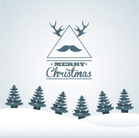 chunk: christmas hipster style design, vector illustration eps10 graphic