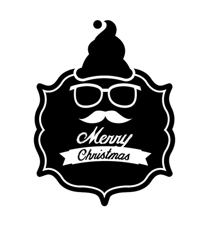 glases: christmas hipster style design, vector illustration eps10 graphic