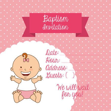 baptism invitation design, vector illustration eps10 graphic