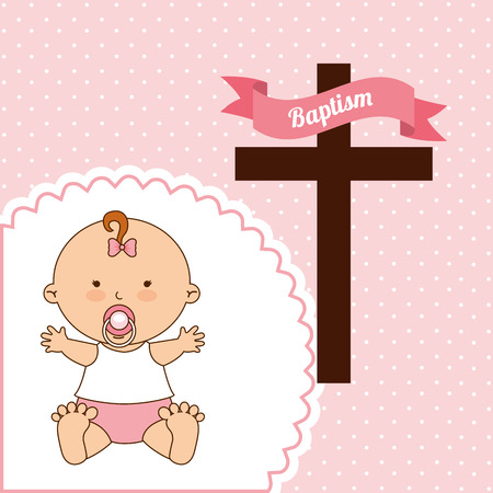 el bautismo: dise�o de la invitaci�n del bautismo, ilustraci�n vectorial gr�fico eps10