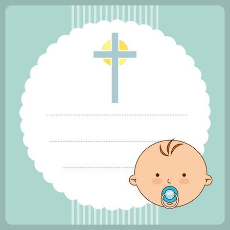 christening: baptism invitation design, vector illustration eps10 graphic