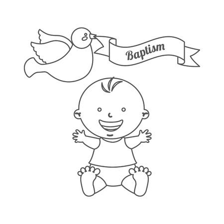 Plantilla De Tarjeta De Invitación De Bautismo Ejemplo