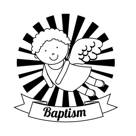 baptism invitation design, vector illustration eps10 graphic