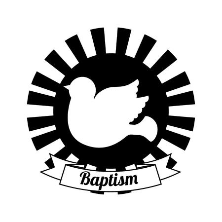 battesimo: Battesimo progettazione invito, illustrazione grafica vettoriale eps10
