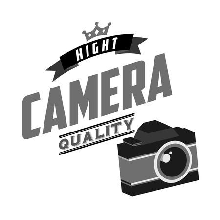 macchina fotografica: disegno macchina fotografica retrò, illustrazione grafica vettoriale eps10 Vettoriali