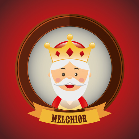 melchior: merry christmas design, vector illustration eps10 graphic