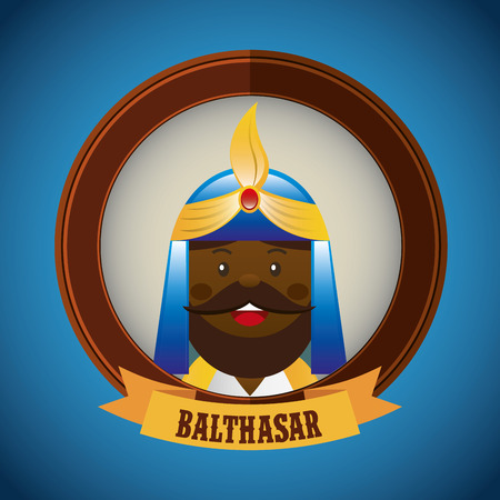 balthasar: merry christmas design, vector illustration eps10 graphic