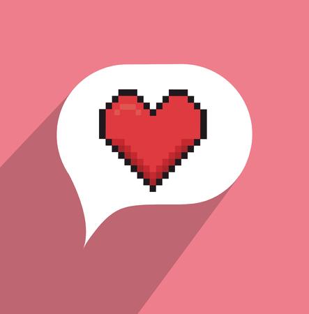 relationship: Online relationship technology design, vector graphic eps10 Illustration