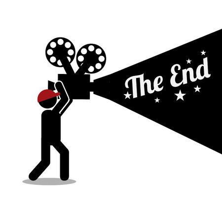 cinema: retro cinema design, vector illustration eps10 graphic Illustration