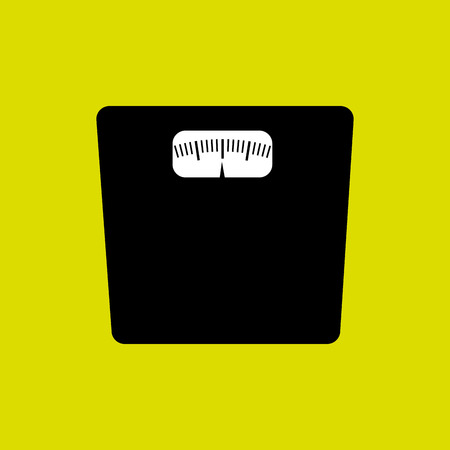 over weight: Loss weight healthy lifestyle design over yellow background, vector illustration. Illustration