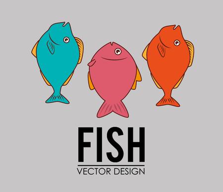 graphic icon: Fish icon graphic design, vector illustration eps10.