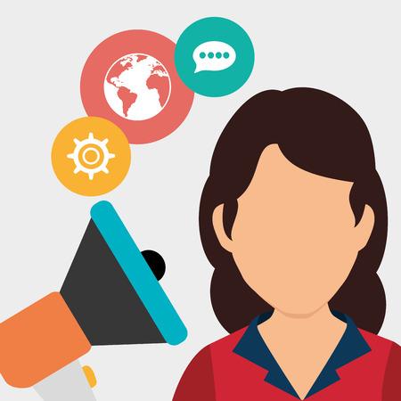 socializando: Los medios sociales y el diseño de comercio electrónico, gráfico de vector.