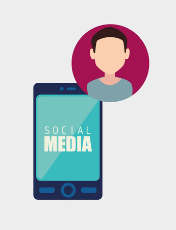 socializing: Social media and ecommerce design, vector graphic. Illustration