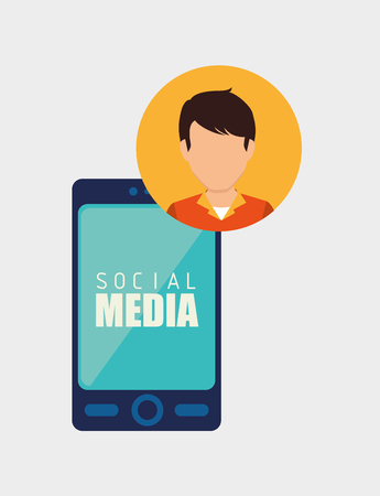 socializing: Social media and ecommerce design, vector graphic. Vectores