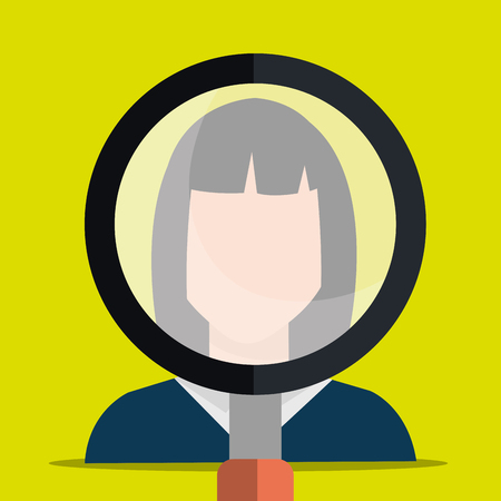 headhunter: Find person and job interview graphic design, vector illustration