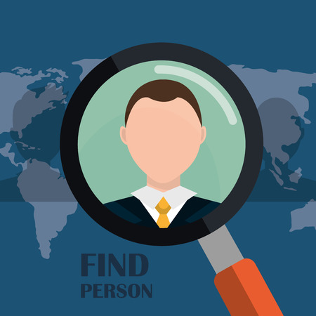 executive search: Find person and job interview graphic design, vector illustration