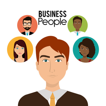 young group: Office and business people design, vector illustration.