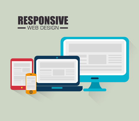 display size: Responsive web and technology design, vector illustration eps10.