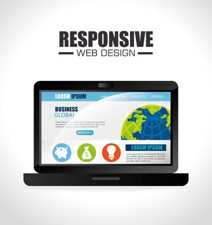 responsive design: Responsive web and technology design, vector illustration eps10.