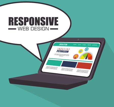 responsive: Responsive web and technology design, vector illustration eps10.