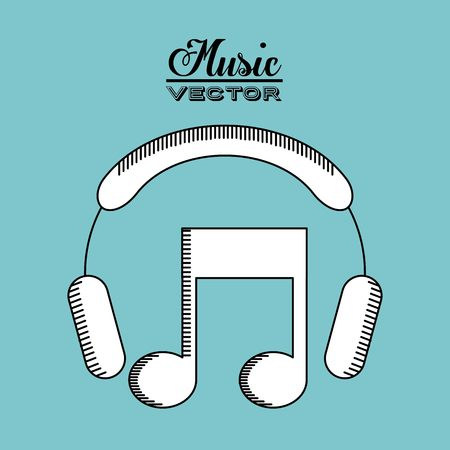 media network: music lifestyle design, vector illustration graphic