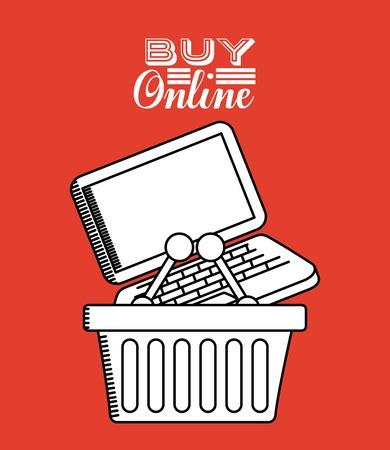 buy online: buy online design Illustration