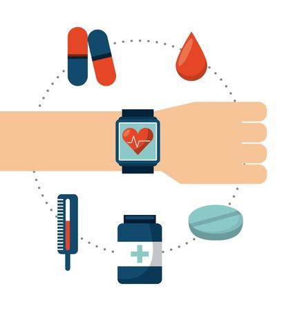 termometer: healthcare concept design, vector illustration  graphic Illustration