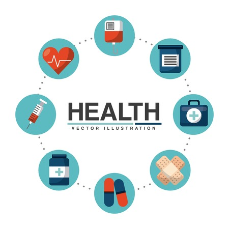 health icons: healthcare concept design, vector illustration graphic