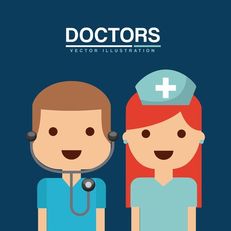 diagnosis: healthcare concept design, vector illustration graphic