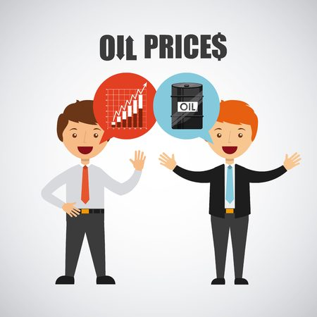 oil prices design, vector illustration graphic
