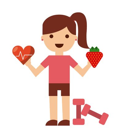 active life: healthy lifestyle design, vector illustration graphic
