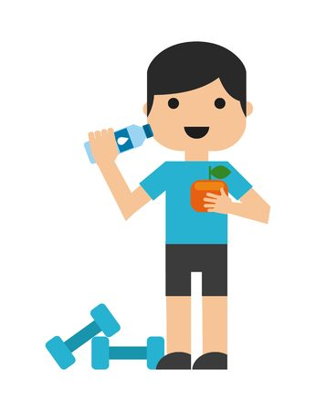 bodies of water: healthy lifestyle design, vector illustration  graphic Illustration